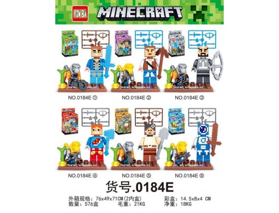Конструктор PIN BA Minecraft 0184E