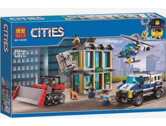 Конструктор Bela Cities Ограбление на бульдозере 10659
