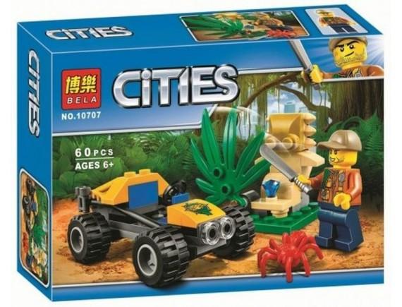 Конструктор BELLA Cities «Багги для поездок по джунглям» 10707