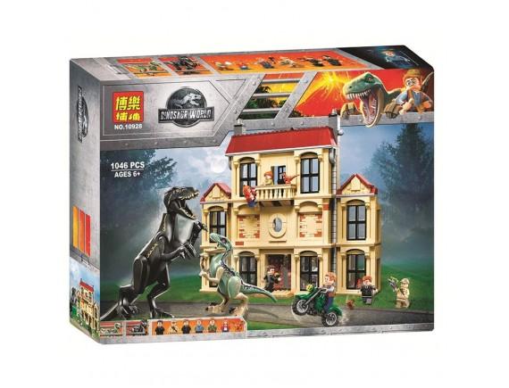Конструктор BELA Dinosaur World Нападение индораптора в поместье Локвуд 10928