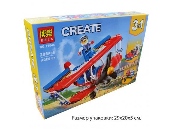 Конструктор 3in1 Bela CREATE Самолёт 11045
