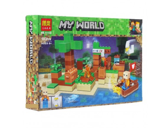 "Конструктор LARI(BELA) My World ""На рыбалке"" 11132"