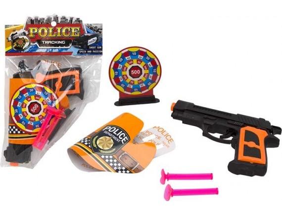 Детский пистолет Police с пулями на присосках 200102767 - приобрести в Игра - оптовый склад детских игрушек