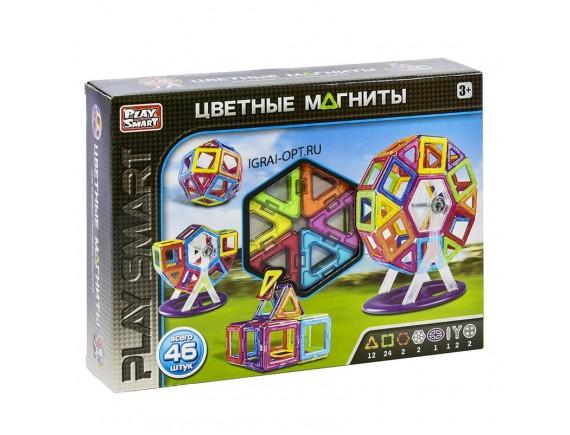 Конструктор магнитный Play Smart 46 дет LT2430