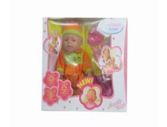 Пупс в оранжевом костюмчике кор 8 шт. LT8001-16