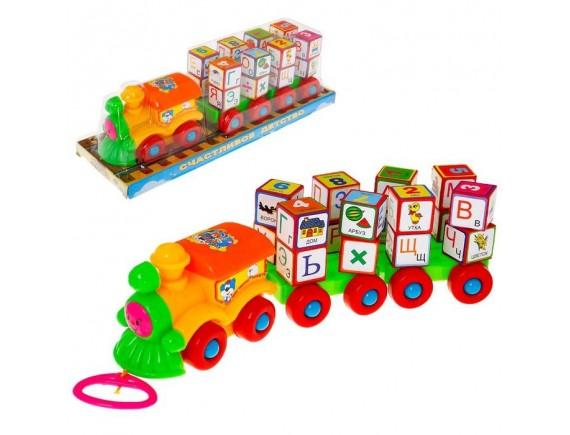 Каталка-паровоз с кубиками LT2366A - приобрести в Игра - оптовый склад детских игрушек